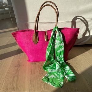 Lilly Pulitzer for Target pink tote bag